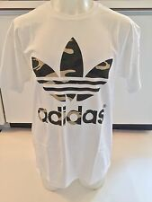 Adidas Originals Stacked Camo White T-shirt Men's Sz 2XL XX-Large Graphic Tee