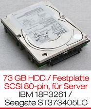 73 GB SCSI HARDDISC HDD SCSI IBM 18P3261 SEAGATE ST373405LC FÜR SERVER HOTPLUG