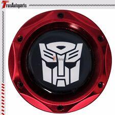 Red Aluminum Engine Oil Fuel Filter Tank Cap Cover Fit Nissan Transformer Emblem