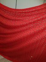 "58/"" wide Metalic Paisley Lace dress fabric; stretch @ £5.25//m 1.47m"