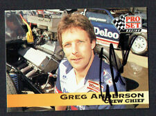Greg Anderson #166 signed autograph auto 1992 Pro Set Nhra Trading Card