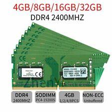 32GB 16GB 8GB 4GB DDR4 PC4-19200 KVR24S17S6/4 2400 Laptop RAM For Kingston Lot