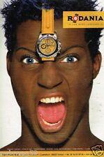 Publicité Advertising 1998 La Montre Rodania Yellow