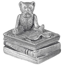 Christening Gift Pewter Teddy On Books First Tooth Box