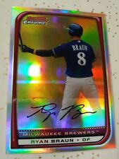RYAN BRAUN REFRACTOR NM! *2008 BOWMAN CHROME*