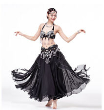B & D CUP Belly Dance Costume Outfit Set Bra Belt Carnival Bollywood 2 PCS