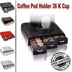 Coffee Pod Holder 36 K Cup Storage Rack Cups Drawer Organizer Keurig 7 Color NEW