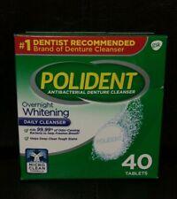 Polident Overnight Whitening, Triple Mint Freshness 40 ea
