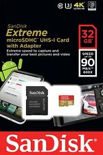 SanDisk 32GB U3 V30  Extreme Micro SD SDHC Class 10 UHS-I Card 90MB