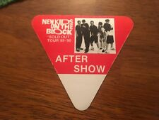 "New Kids on the Block - ""Sold Out"" Tour 1989/90 - After Show Pass - Red"