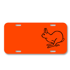 Bunny Hare Mammal Rabbit Running On License Plate Car Front Add Names