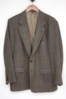 VTG Carroll & Co Wool Tweed Sport Coat 42S Brown Herringbone Weave Jacket USA