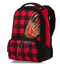 New Volcom Creature Red Boys Girls Mens Backpack School Bag