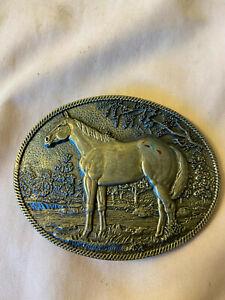 Vintage Belt Buckle ADM award design medals Horse
