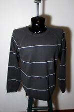 Men's BLUE INK Gray Long Sleeve Crew Sweater Size L NWT