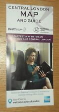 Heathrow Express fold out pocket Central London street map and guide 2016 edn
