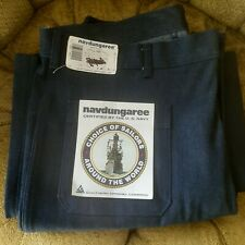 New listing Vintage Us Navy Dead Stock Navdungaree Dungarees Bell Bottom Blue Jeans 38×30