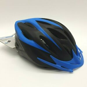 Fischer Bicycle Cycle Bike Helmet Unisex Adult Black Blue Size 58-61cm - NEW