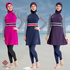 AlHamra AL8076 Modest Burkini Teenager Swimsuit Muslim Islamic 4 piece UK 4-8