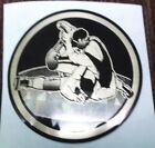 """2"""" diameter mylar trophy parts lot of 25 action wrestling black  gold"""