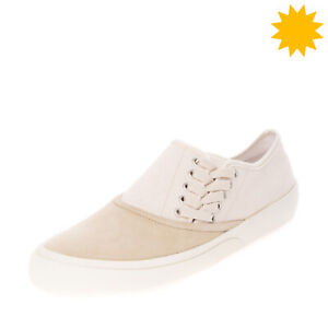 RRP €370 MAISON MARGIELA Leather & Canvas Sneakers EU44 UK10 US11 Made in Italy
