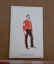 Military Uniforms Postcard Hertfordshire Yeomanry .unposted