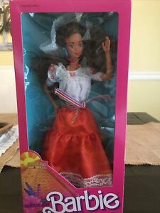 Vintage Mexican Barbie #1917 Dolls Of The World Collection 1988 Mattel New