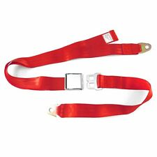Lap Seat Belt, Chrome Lift Latch, 70 Inch Length -Red