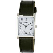 Men's Classic Rectangular Watch. Dress Watch Style, by Ravel. Japanese Quartz.