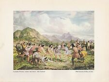 """1952 Wild West Full Color Plate """" Lacrosse Playing Among the Sioux """" by Eastman"""