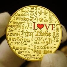 Love in different languages of the world 24K Gold Plated Coin Sweetheart Gift