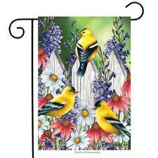 "Goldfinch Trio Spring Garden Flag Floral 12.5"" x 18"" Briarwood Lane"