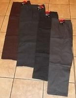 Womens Plus DRESS PANTS~1X 3X 4X NWT~Brown Black Gray~Elastic~Slacks Pin Striped