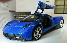 1:24 Scale Pagani Huayra Detailed Motormax Diecast Model Car Metallic Blue 2012