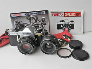Pentax ME Super 35mm Film Camera with 50mm Lens, Extra Lens & Manual
