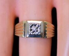 Vintage Estate Men's 10K Gold Diamond Solitaire Pinky? Ring Not Scrap, Size 6.5