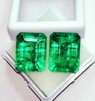 Natural Emerald Loose Gemstone 8 to 10 cts Certified Pair Best Offer