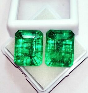 Loose Gemstone Natural Emerald Pair 8 to 10 Ct Certified With Free Shipping ebay