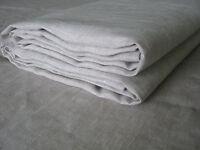 """Pure Linen Flat Sheet 87x95"""" Oatmeal Light Gray Luxury European Bedding"""
