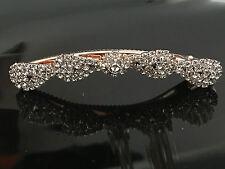 LadiesCrystal Aligator Hair Clip Hair Pin Gold Tone Wedding sale Gift