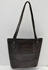 Vintage Hand Tooled / Carved Leather South American Tote Bag