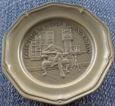 Lost Time Is Never... - Franklin MInt Miniature Collectible Plate - VGC BRONZE