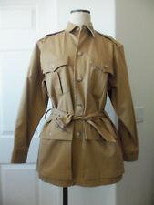Vintage Ralph Lauren Classics British Tan Khaki Cotton Twill Safari Jacket - 6