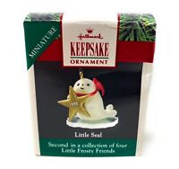 Vintage Mini Hallmark Christmas Ornament Little Frosty Friends Seal Box New 1990
