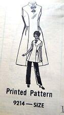Vintage 1970's Ann Adams Pattern #9214 Size 16 Mandarin Collar Dress Pants