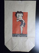 RARE ancien Sachet en papier 1940 Betty Boop TTBE