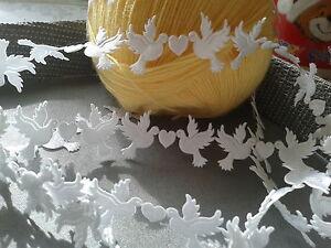 VINTAGE satin Dove lace trim ribbon WIDE BRIDAL CRAFTS card Classic - per Yard