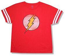 "FLASH ""BOLT DISTRESSED"" RED T-SHIRT NEW ADULT XS OFFICIAL DC COMICS SUPERHERO"