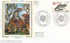 1986**ENVELOPPE SOIE**FDC 1°JOUR!!**EUROPA-LA GENETTE**TIMBRE Y/T 2416