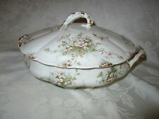 Th. Haviland Limoges France Pink Floral Serving Bowl (Albany N.Y. store) Elegant
